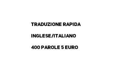 traduzione 400 parole inglese/italiano