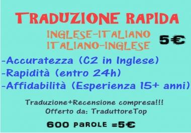 Traduzioni Inglese-Italiano-Inglese 600 parole
