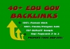 50 gov&edu backlinks per dominare google