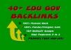 50 gov&edu backlinks per dominare google