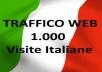 1000 visitatori italiani al proprio sito