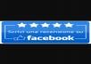 Offro recensioni a 5 stelle su Facebook